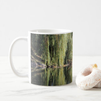 Reflected Willow Trees In River Coffee Mug