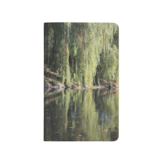 Reflected Willow Trees In River Journal
