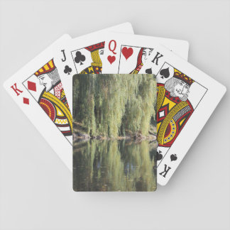Reflected Willow Trees In River Playing Cards