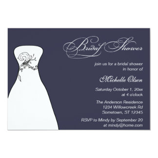 Reflecting Pond Wedding Dress Bridal Shower 13 Cm X 18 Cm Invitation Card