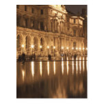 Reflecting pool at the Louvre, Paris, France Postcard