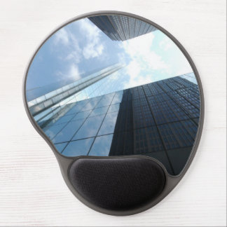 Reflecting skyscrapers gel mouse mat