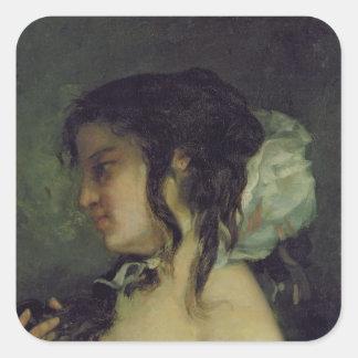 Reflection, c.1864-66 square sticker