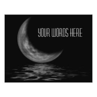 Reflection Crescent Moon Black & White 21.5 Cm X 28 Cm Flyer