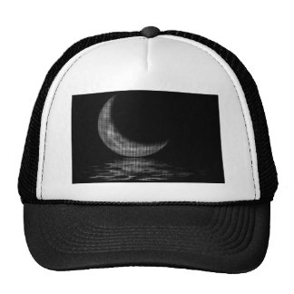 Reflection Crescent Moon Black & White Trucker Hat