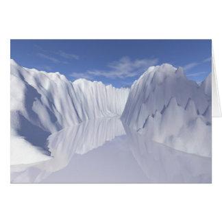reflection: ice corridor card