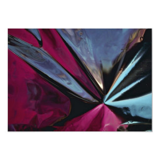 Reflection in aluminum foil invitations