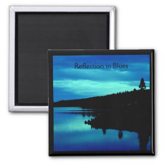 Reflection in Blues Magnet
