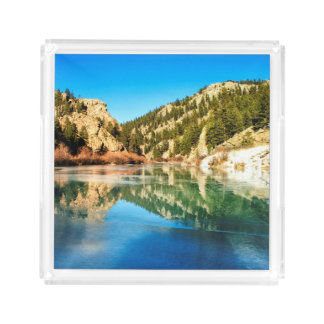Reflection in Elevenmile Canyon Acrylic Tray