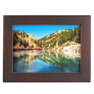 Reflection in Elevenmile Canyon Keepsake Box