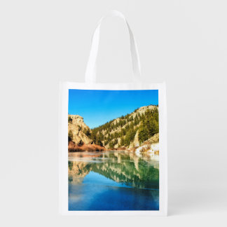 Reflection in Elevenmile Canyon Reusable Grocery Bag