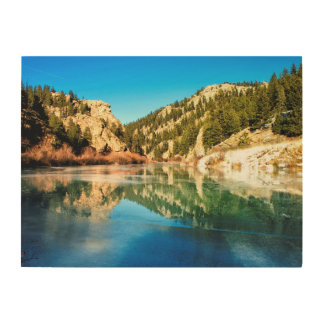 Reflection in Elevenmile Canyon Wood Print