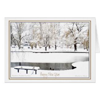 Reflection: In New Year: Boston Public Garden Card