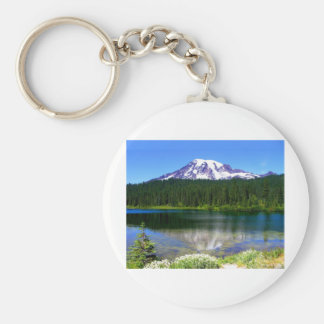 Reflection Lake, Mount Rainier, WA, USA Key Ring