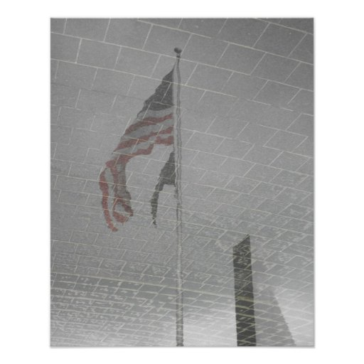 Reflection of a Flag Posters