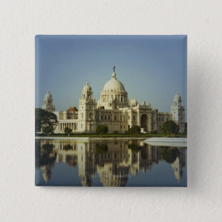 Reflection of a Museum 15 Cm Square Badge