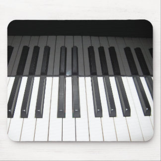 reflection of black and white piano keys mouse mat