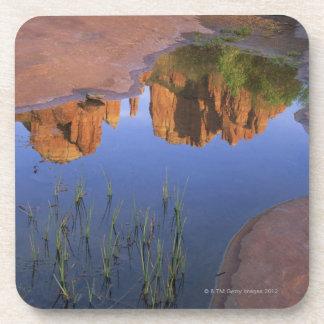 Reflection of Cathedral Rock , Sedona , Arizona Coaster