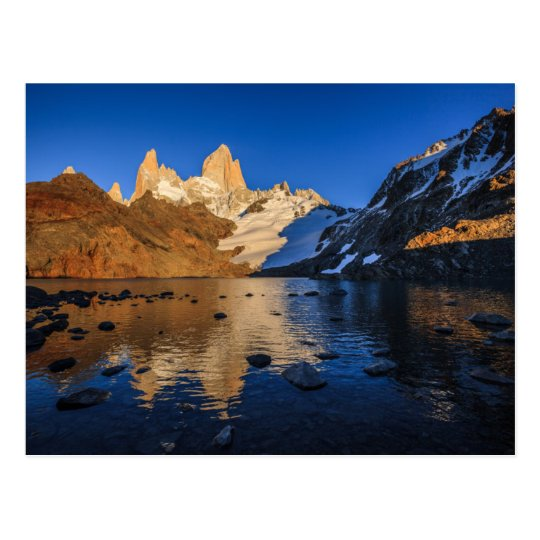 Reflection Of Fitz Roy At Sunrise Postcard