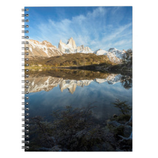 Reflection Of Patagonia Spiral Notebook