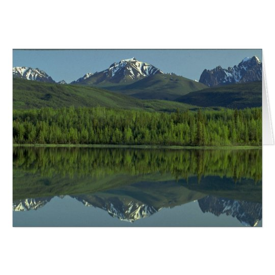 Reflection of the Ragged Range Mountains, N.W.T., Card