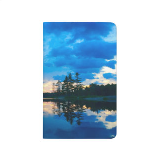 Reflection of Trees on the Water Customizable Journal