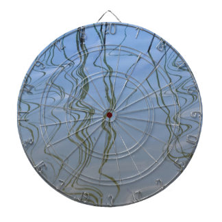 reflection on lake dartboard