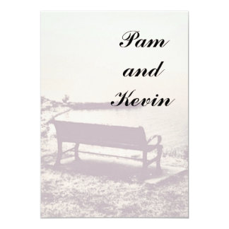 Reflection on the Bench 13 Cm X 18 Cm Invitation Card