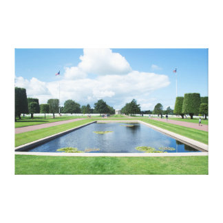 Reflection Pool in the American Cemetery, Normandy Gallery Wrap Canvas