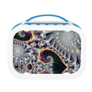 Reflection Silver Spiral Fractal Lunch Box