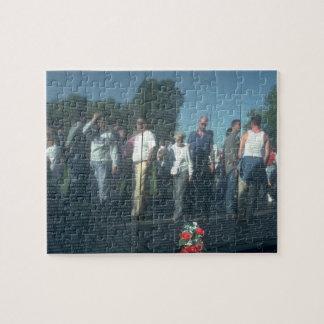 Reflection Vietnam Veterans Wall Washington DC Puzzle