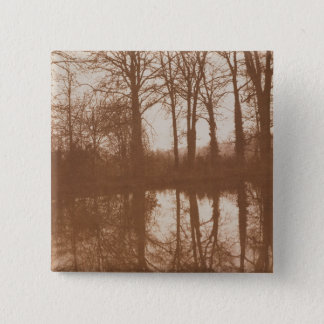 Reflections, 1843 (sepia photo) 15 cm square badge