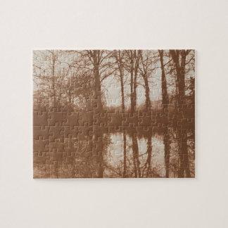 Reflections, 1843 (sepia photo) jigsaw puzzle