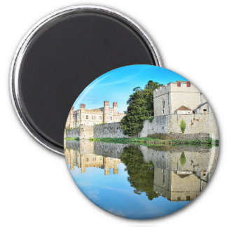 Reflections from a majestic Castle 6 Cm Round Magnet