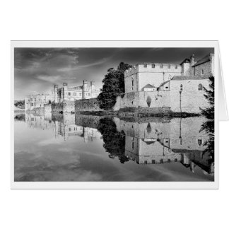 Reflections from a majestic Castle B&W Card
