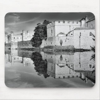 Reflections from a majestic Castle B&W Mousepads