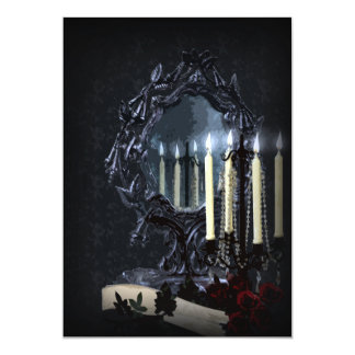 Reflections Gothic Fantasy Wedding Card