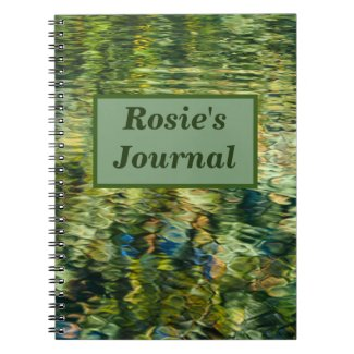 Reflections in a Garden Pond Personalised Notebook