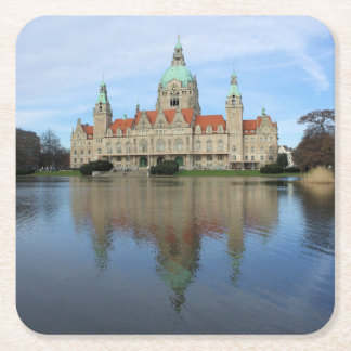Reflections in Hannover, Germany - Coasters Square Paper Coaster