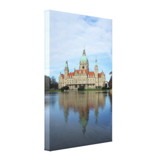 Reflections in Hannover, Germany Wrapped Canvas