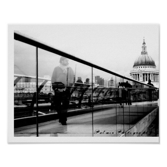 Reflections in London [Art Print] Poster