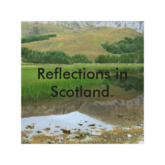 Reflections in Scotland Canvas Print