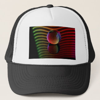 Reflections in the crystal ball trucker hat