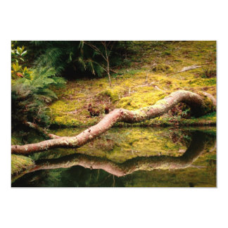 Reflections in the park 13 cm x 18 cm invitation card