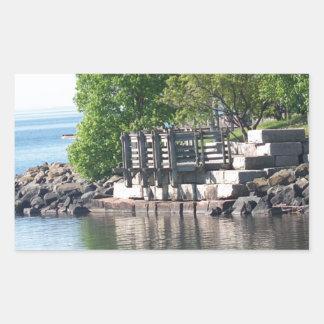 Reflections , Lake Superior Rectangular Sticker