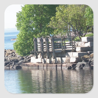 Reflections , Lake Superior Square Sticker