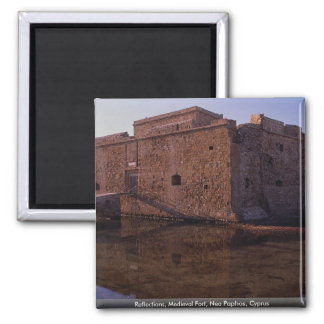 Reflections, Medieval Fort, Nea Paphos, Cyprus Magnet