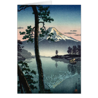Reflections of a Japanese Mountain Greeting Card