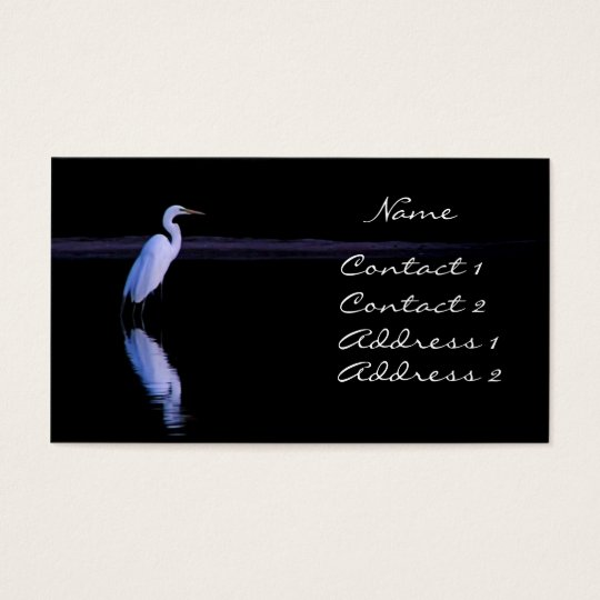 reflections of an Egret Business Card