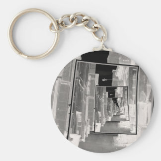 Reflections of An Infrared Alley Basic Round Button Key Ring